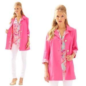 Lilly Pulitzer Pink Palm Beach Jacket Small